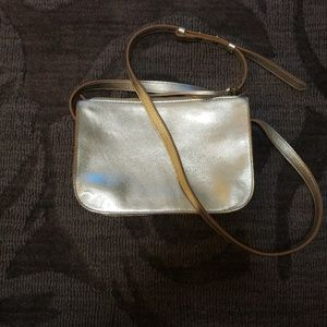 Madewell The Simple Crossbody Gold Leather NWT